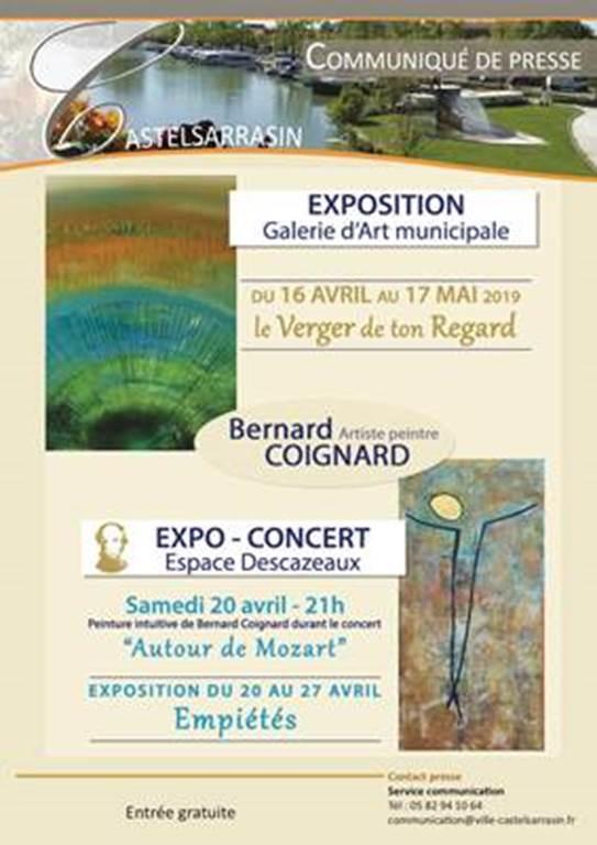 Exposition Empiétés avec Expo-concert