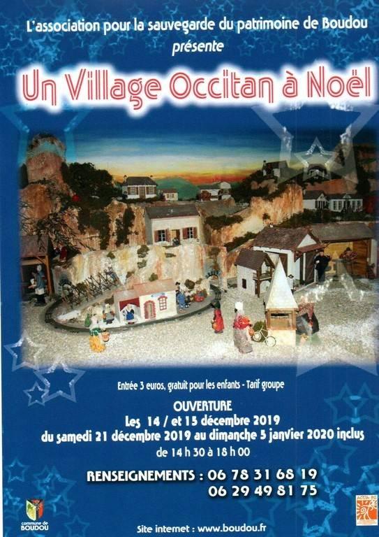 Village occitan à Noël