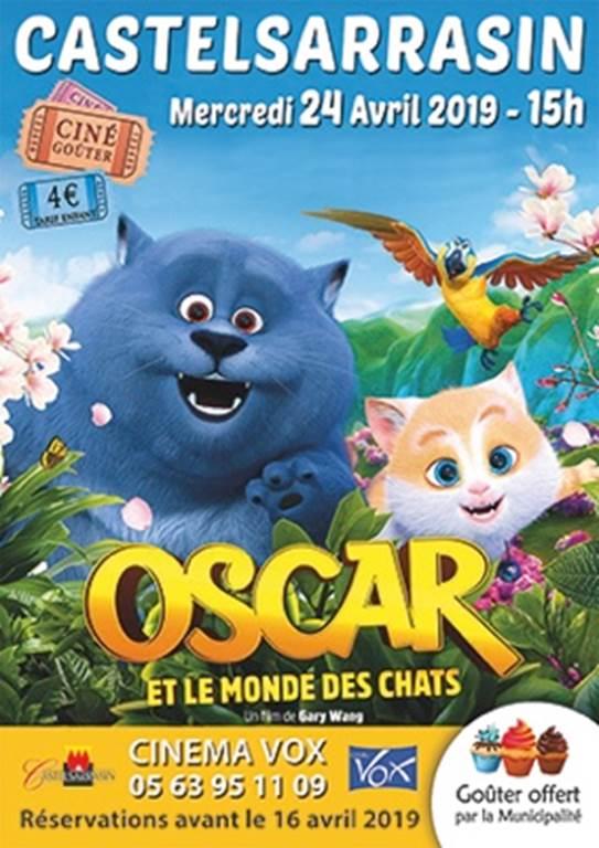 Ciné-goûter Oscar et le monde des chats