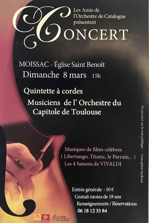 Concert des musiciens de l'Orchestre du Capitole de Toulouse - 15h