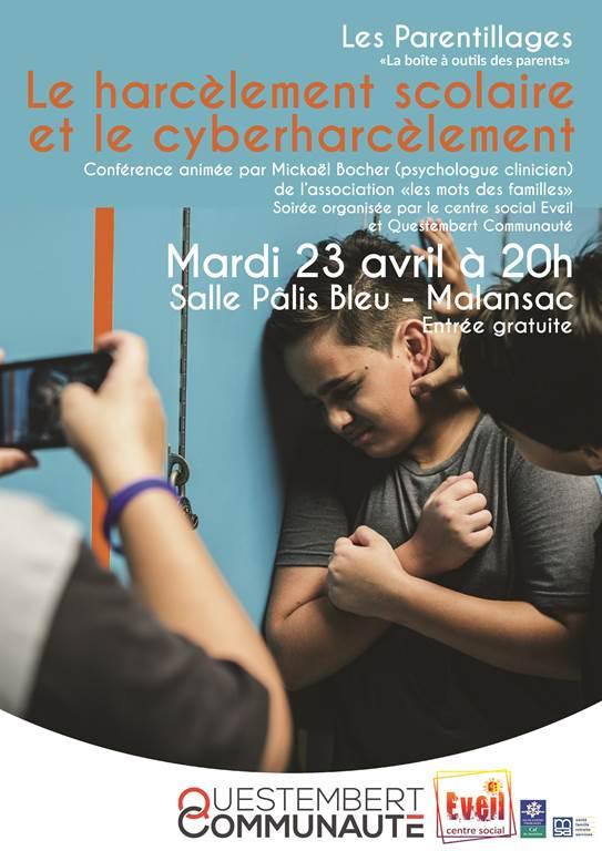 Harcèlement scolaire et cyberharcèlement