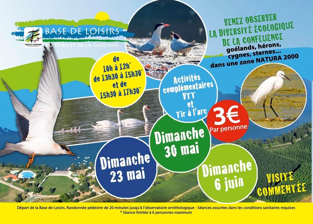 Base de loisirs St Nicolas de la Grave, venez observer la réserve