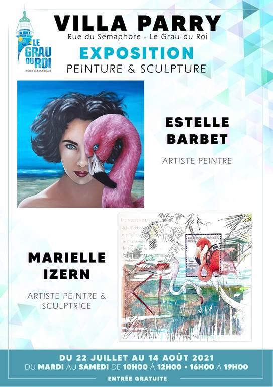 Exposition-de-peintures-et-sculptures-Estelle-Barbet-et-Marielle-Izern