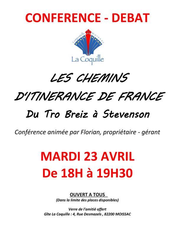 Conférence sur les chemins d'itinérance de France