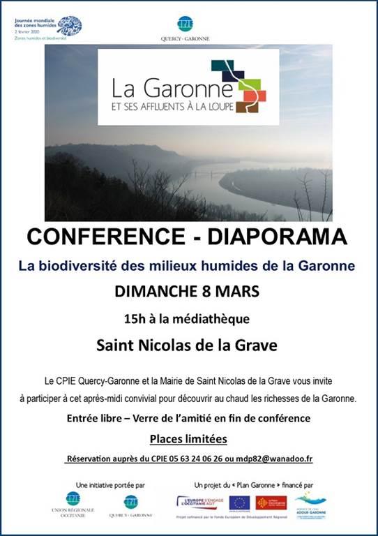 Conférence « La biodiversité des milieux humides de la Garonne » -