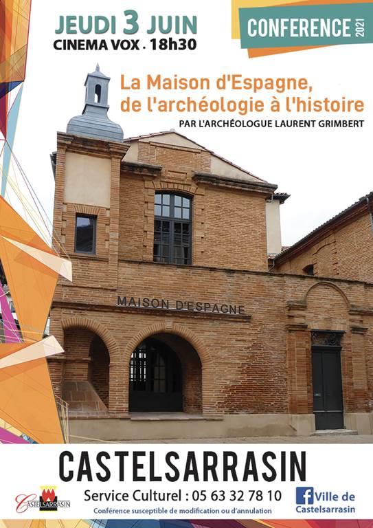 Conférence le jeudi 3 juin 18H30 à Castelsarrasin. La Maison d'Esp