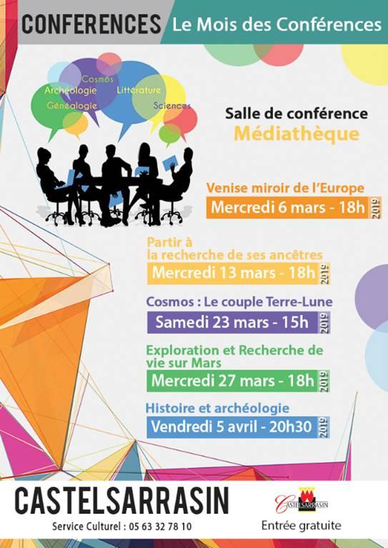 Le mois des Conférences