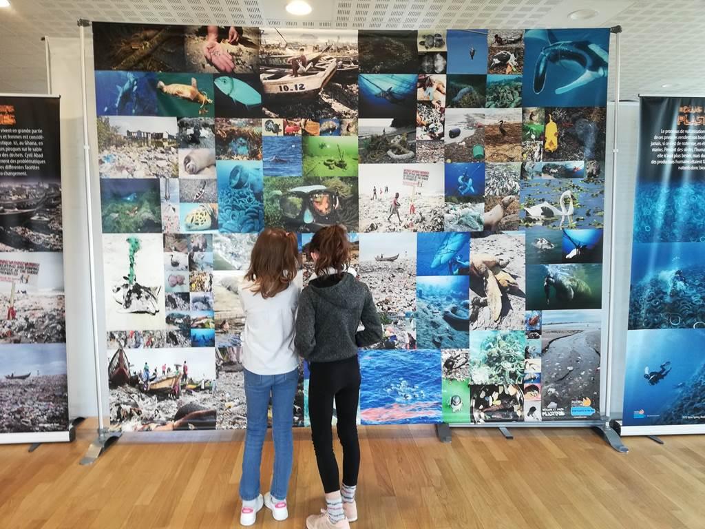 Expo Océans et mers plastifiés Expedition Med - Questembert