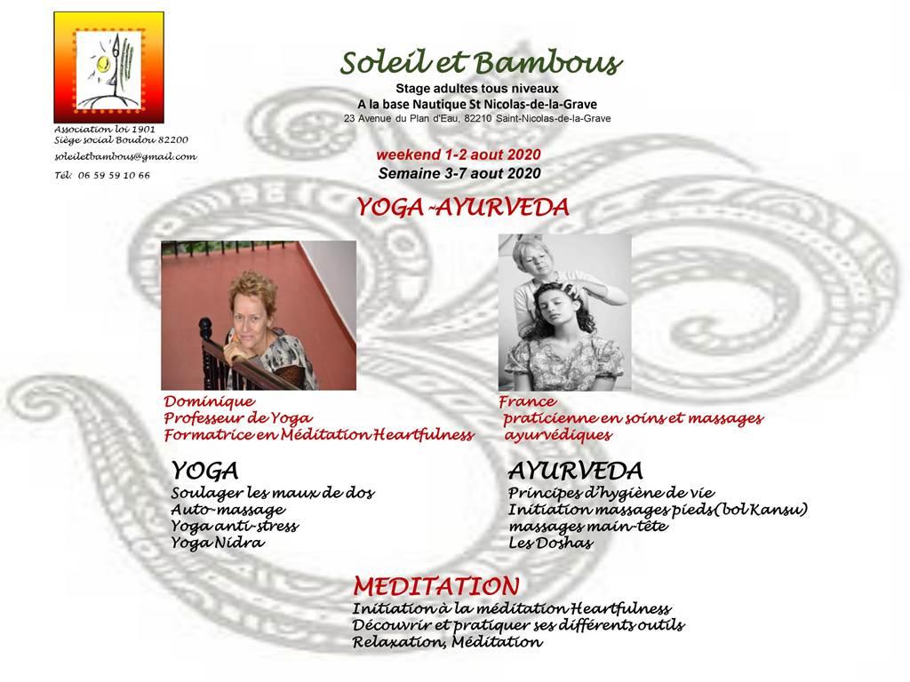 Stages de Yoga et Ayurveda