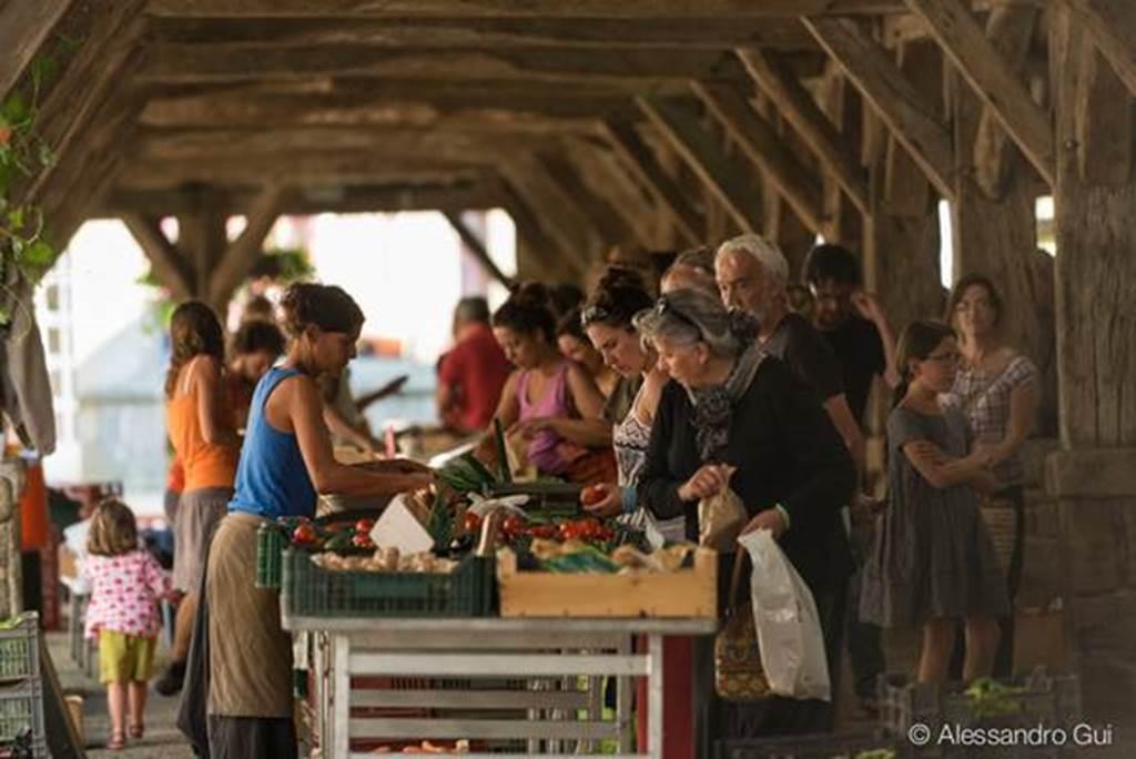 Visite guidée de Questembert - Le marché - Morbihan - Bretagne Sud (Crédit photo : A.GUI )