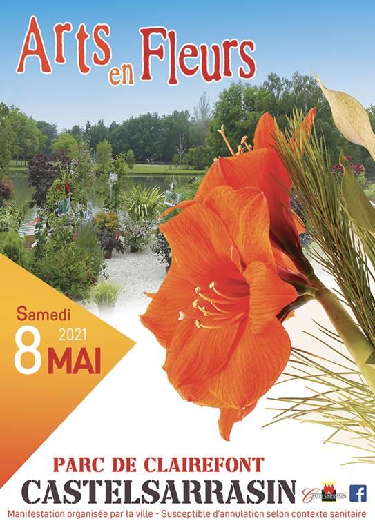 Arts en Fleurs Castelsarrasin Samedi 8 mai au parc Clairfont