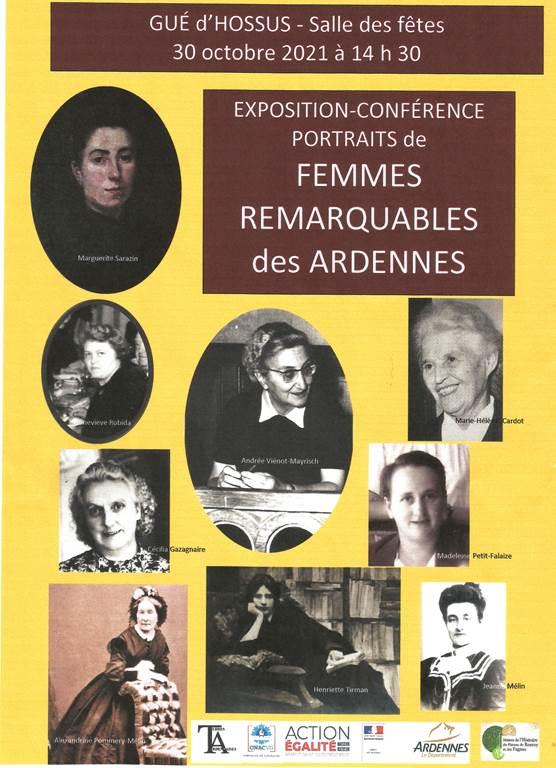 Exposition et conférence sur les Femmes remarquables
