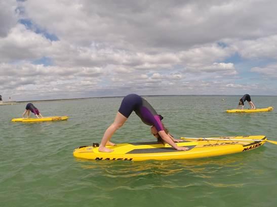 paddle-yoga-sup-Hebert-Carnac-Morbihan-Bretagne-Sud © Sarah Hebert