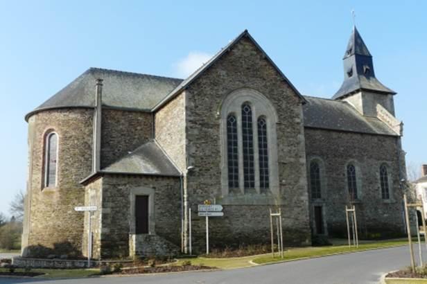 L'église de Saint-Brieuc de Mauron ©