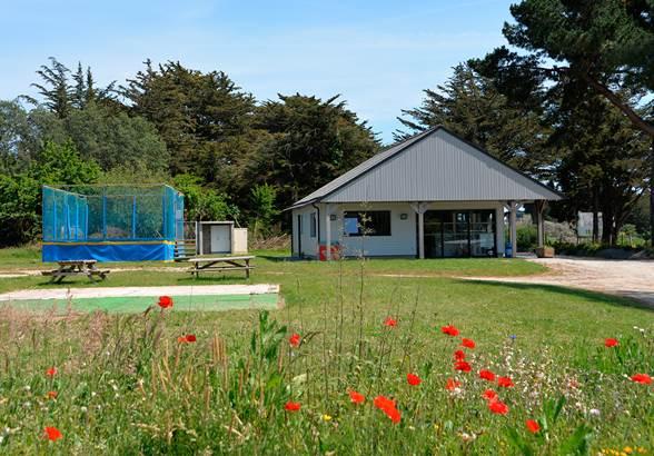 La réception et les grands trampolines ©