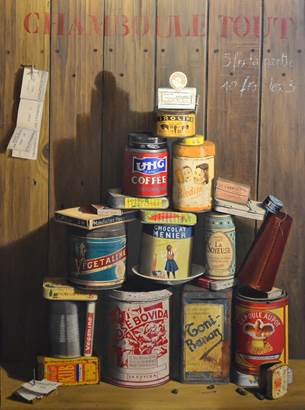 Dominique Houard - Chamboule Tout huile sur toile © Exposition Les Digitales - Caden
