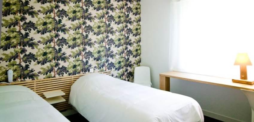 Chambre-Lits-Simples-Hôtel-Le-Crouesty-Arzon-Presqu'île-de-Rhuys-Golfe-du-Morbihan-Bretagne sud © Hôtel Le Crouesty