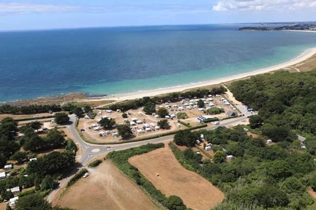 Vue-Aérienne-Camping-Municipal-du-Kerver-Saint-Gildas-de-Rhuys-Golfe-du-Morbihan-Bretagne sud © Camping Municipal du Kerver