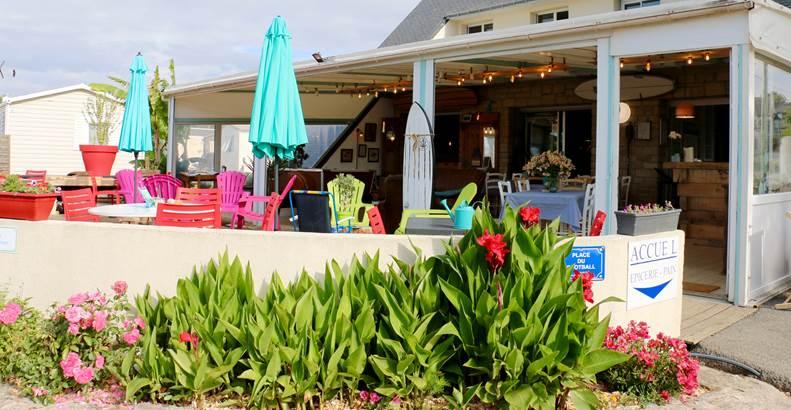 Reception/bar du camping LANDREZAC PLAGE ©