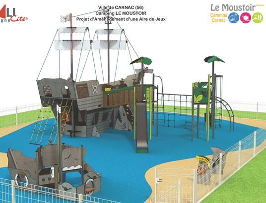 Nouvelle aire de jeux enfants Quali Cité au camping ©