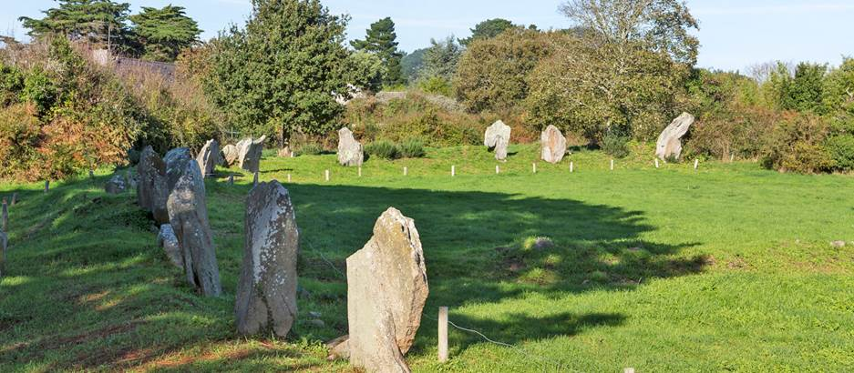 Enceinte mégalithique de Kergonan - iles aux moines - Morbihan Bretagne sud © F-Galivel
