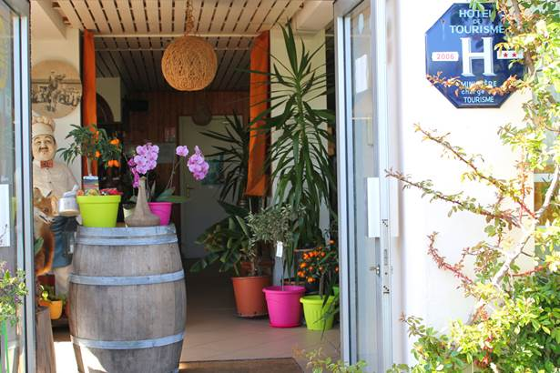 Entrée-Hôtel-Oasis-Bretonne-Arzon-Presqu'île-de-Rhuys-Golfe-du-Morbihan-Bretagne sud © Vert Mer