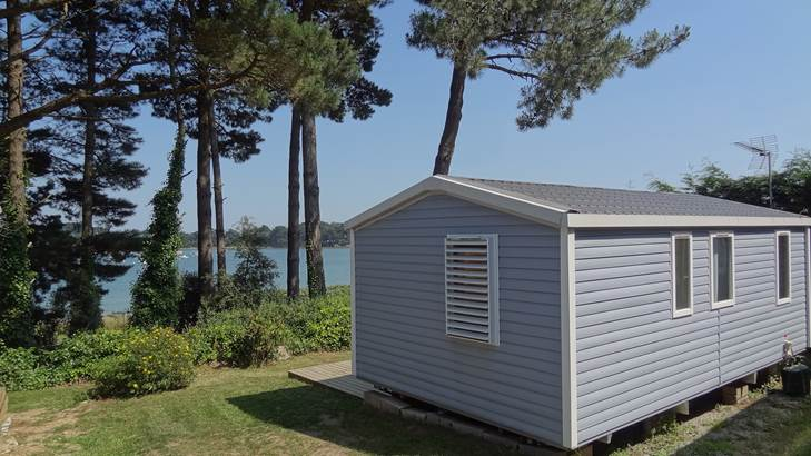 Mobil-Home-Riviera-Camping-Le-Bilouris-Arzon-Presqu'île-de-Rhuys-Golfe-du-Morbihan-Bretagne sud © Camping Le Bilouris