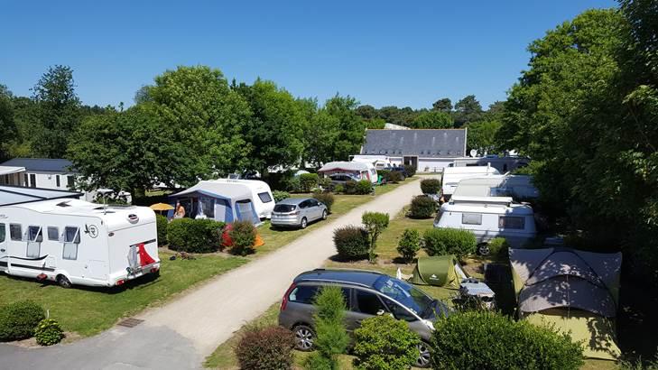 emplacements tentes, caravanes, camping cars camping pen palud Morbihan ©