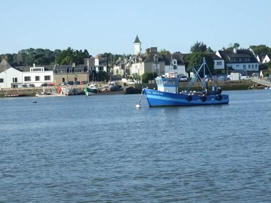 Vue du Port de Tréhiguier depuis la Vilaine © OT Pénestin