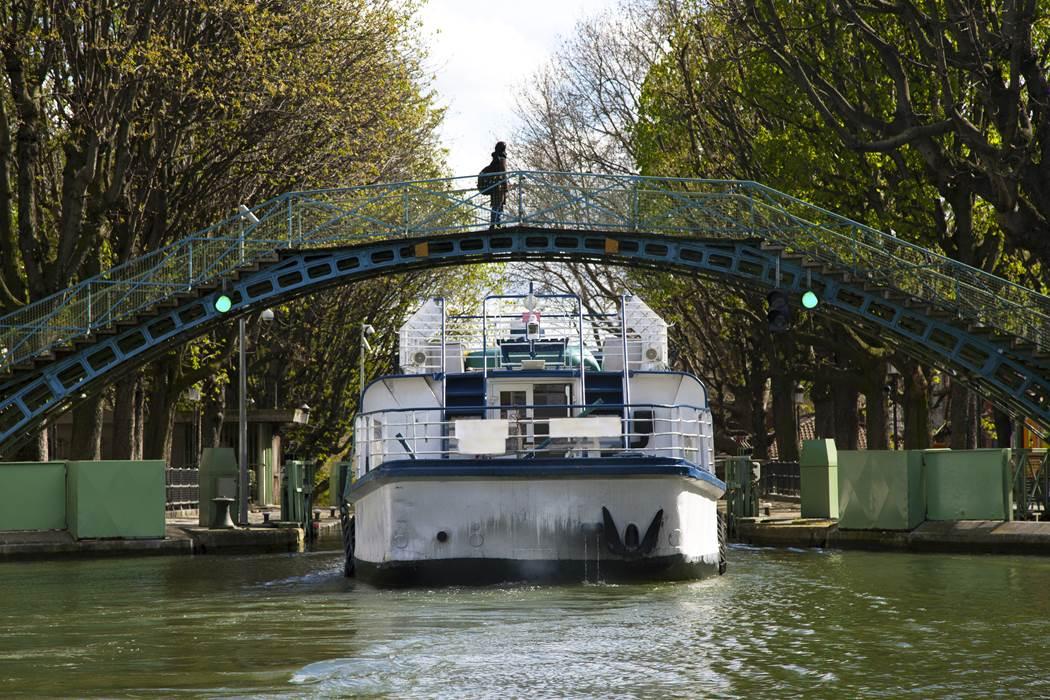 Paris, le canal Saint-Martin et la Villette