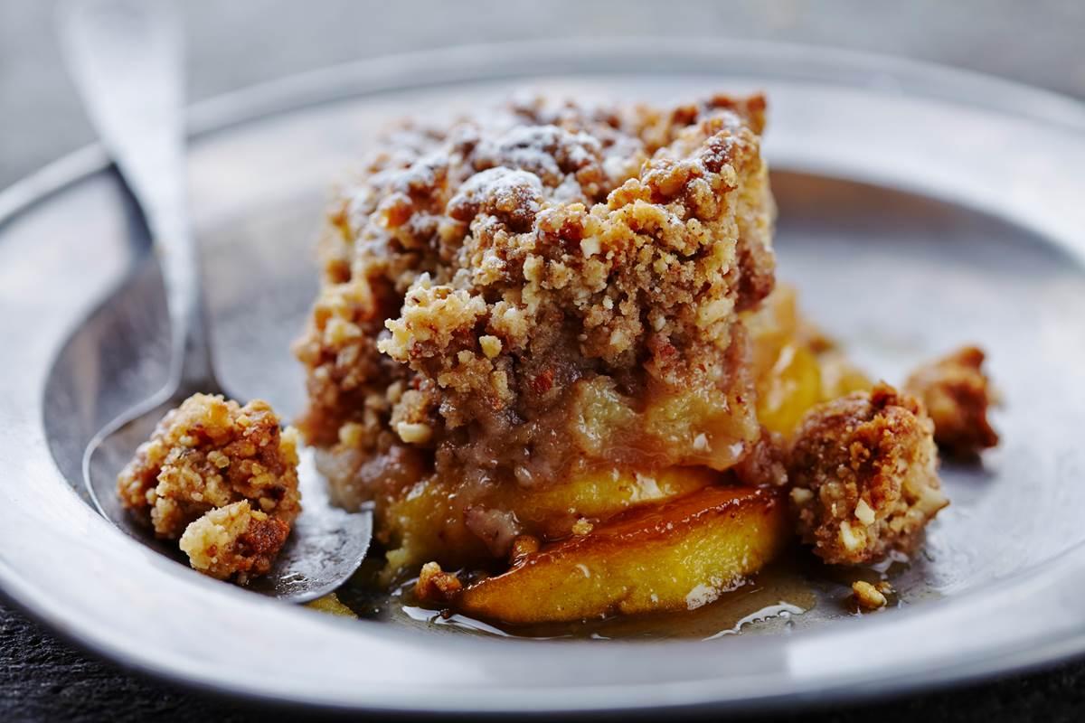 Crumble aux pommes Reinette du Vigan - recette Cévennes