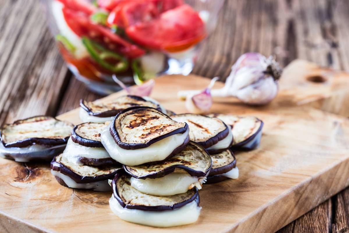 millefeuille d'aubergine au Pélardon