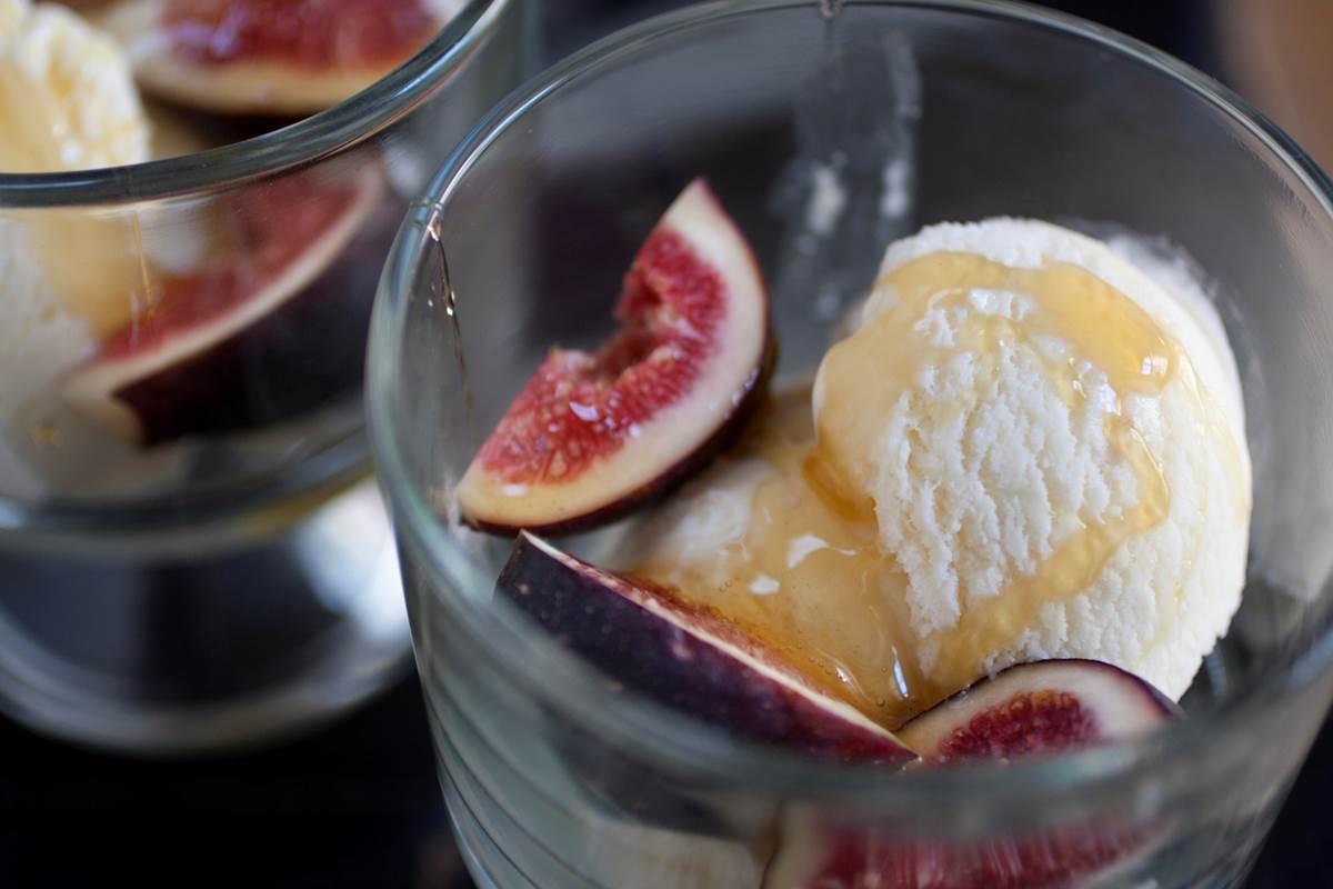 Crème glacée figue miel - Recette Cévennes