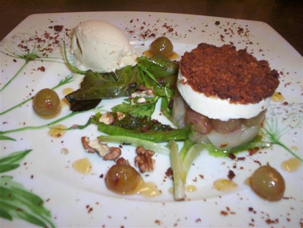 crumble de pain d'épices et pélardon - Recette Cévennes