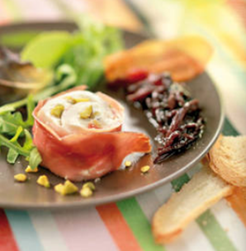 Nougat de Pélardon frais aux pistaches