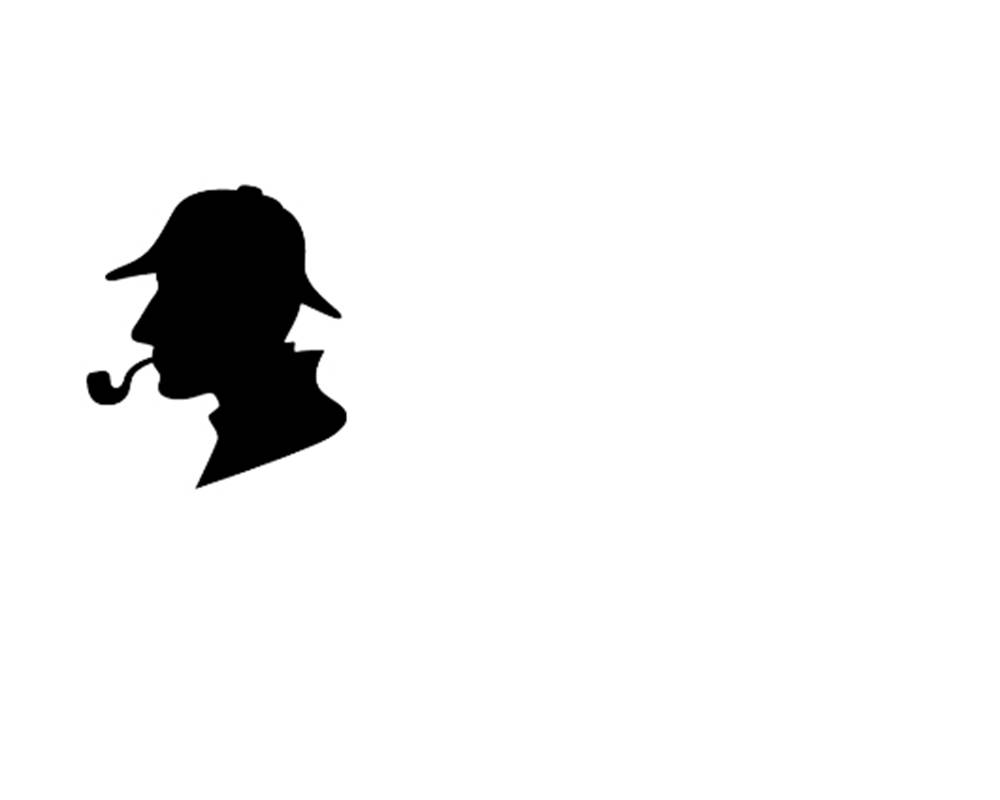 Escape room - sherlock holmes silhouette