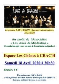 Concert de LAK A BARH (CRAC'H)