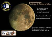 EXPOSITIONS ET OBSERVATIONS ASTRONOMIQUES A MISSIRIAC POUR LE CINQUANTENAIRE DU PREMIER PAS DE L HOMME SUR LA LUNE