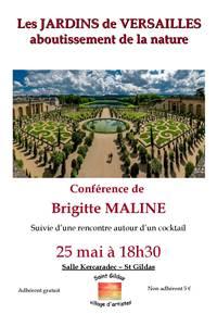 Conférence Les Jardins de Versailles ou l'aboutissement de la nature par Brigitte Maline
