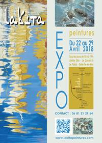 Exposition : Lakita « Energie de la Mer et du Littoral » peintures