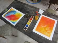 Peinture sur papier mouillé, méthode Hauscka