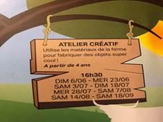 Ateliers créatifs à la Ferme l'Ane qui rit - SEPTEMBRE