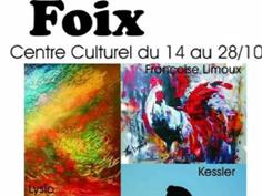EXPOSITION PEINTURE SCULPTURE  À FOIX