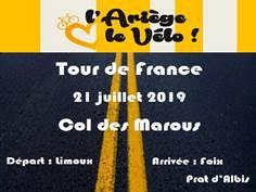 LE TOUR DE FRANCE AU COL DES MAROUS