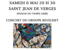 CONCERT REVELHET À ST JEAN DE VERGES