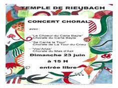 Concert au Temple de Rieubach