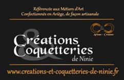 CREATRICE DE SACS ET D'ACCESSOIRES – « CREATION COQUETTERIE DE NINIE »