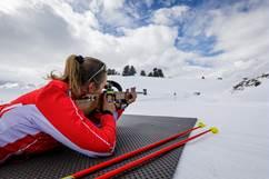 Challenge biathlon au Plateau de Beille