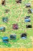 CARTE TOURISTIQUE - PAYS DES PYRENEES CATHARES