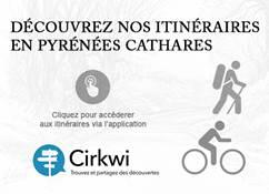 ITINERAIRES RANDONNEES PEDESTRES ET CYCLOTOURISME EN PYRENEES CATHARES AVEC L'APPLICATION CIRKWI